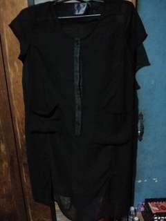 Black see through dress