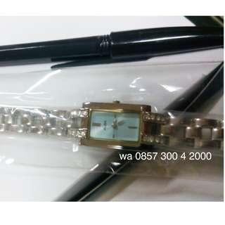 Alba AC3P51X1 Ladies Jam Tangan Wanita AC3P51 Kotak Blue Silver Original