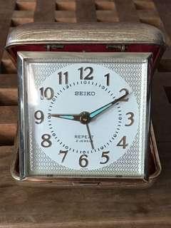 Seiko Vintage Alarm Clock 精工 金色古董閙鐘 美品 上錬 旅行用