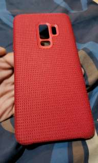 Samsung Official Red Cloth Phone Case S9+plus