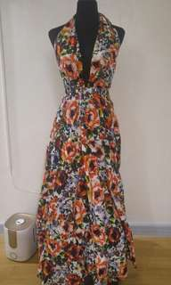 Custom made floral dress