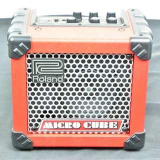 Roland micro cube 紅色 街頭表演 綜合效果電吉他音箱*現金收購 樂器買賣 二手樂器吉他 鼓 貝斯 電子琴 音箱 吉他收購