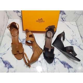 Sepatu Hermes Wanita Wedges Mirror Quality