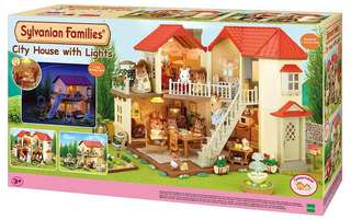 *HOLIDAY SALE* Sylvanian Families City house with lights