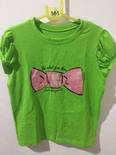 Basics apple green shirt
