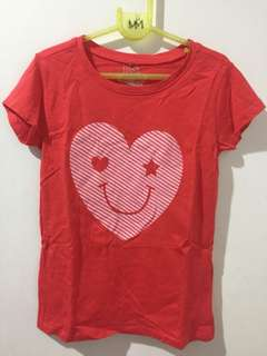 Heart smiley red shirt