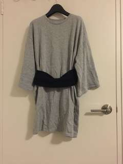 Zara long grey top