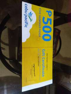 CEBU PACIFIC GIFT CHECK