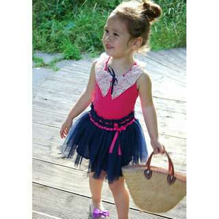 *FREE DELIVERY to WM only / Ready stock* Kids 1piece dress each size 90 130 as shown in design/color pink blue. Free delivery is applied for this item.