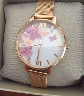 Olivia Burton玫瑰金錶
