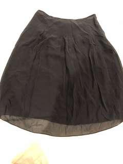 Club Monaco black silk skirt
