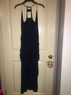 Morning mist BNWT maxi navy wrap dress size 6