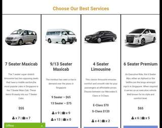 Maxicab/Alphard/Minibus Booking. Call/Whatapps 97775151 for enquiry or book online https://www.platinummaxicab.com