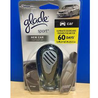 glade sport new car freshener with holder