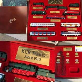經典港鐵KCR火車模型紀念套裝(木盒版)