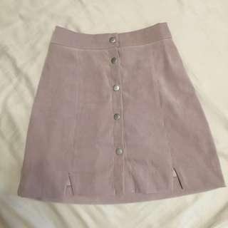 🚚 韓版 粉紫色麂皮短裙
