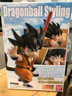 行版全新 龍珠 Dragonball Styling 少年 孫悟空 食玩 盒蛋 可換面 Bandai