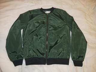 FOS BNWOT ARMY GREEN BOMBER JACKET