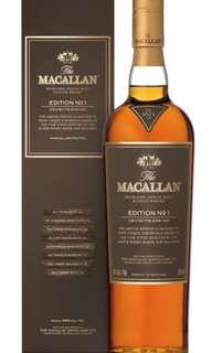 麥卡倫 macallan edition no.1