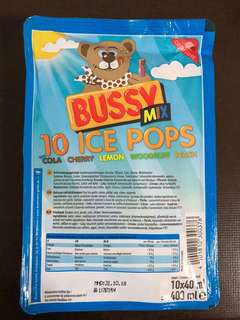 Ice pop (Bussy 10 Ice pop from German)