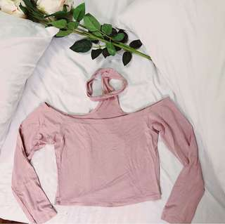 Shop Copper Off Shoulder Long Sleeves with Choker