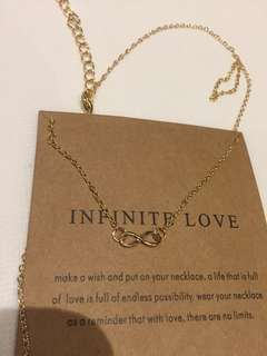 infinity infinite love necklace