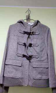 Colour Eighteen Weekend collection grey coat灰色絨漁夫褸