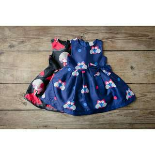 *FREE DELIVERY to WM only / Ready stock* Kids owl / lady design dress each as shown design/color blk, blue. Free delivery applied for this item.