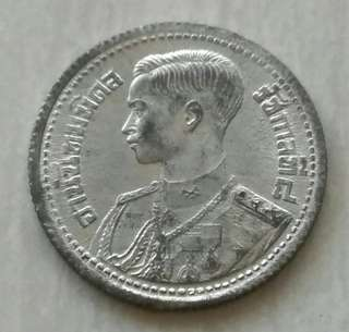 Thailand 1946 25 Satang Unc Tin Coin With Luster
