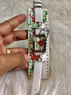 Original Guess Leather Cuff Watch with Diamond