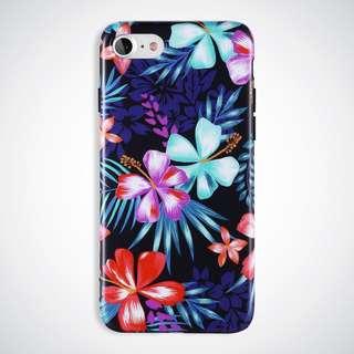 Purple Floral Matte imd case for Iphone 6 Plus