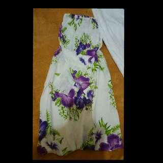 Lavander floral tube dress