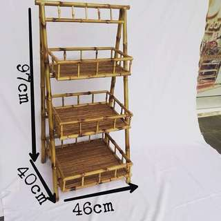Rak bambu kotak 3 layer