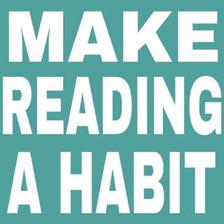 MAKE READING A HABIT. SWIPE PHOTO.