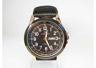 Jam tangan pria swiss army kulit gold