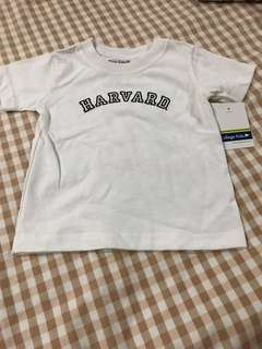 Harvard white Tshirt 12m 1yr old
