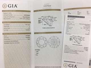 GIA 1.5卡 F colour 閃亮鑽石😍