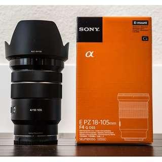 Sony E PZ 18-105mm f/4 G OSS Lens . Original Sony Malaysia Warranty