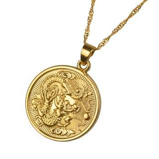 Gold dragon necklace