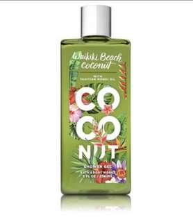 Waikiki Beach Coconut Shower Gel Bath & Body Works (NEW)