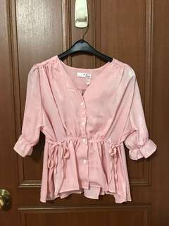 Brand New Sweet Pink Sheen Top