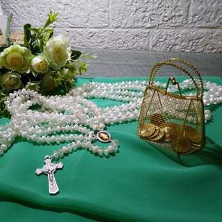Bridal Beaded Cord and Aras Set