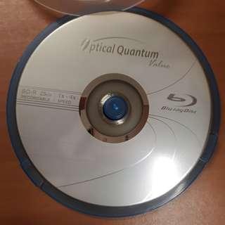 10 BD-R (Blu-Ray Recordable) Discs