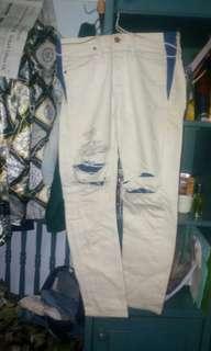 Clama straigh putih biru swag