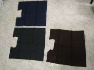 Soft denim fabric in 3 colours