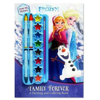 Disney Frozen Family Forever painting and colouring book
