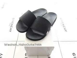 (价格私询)GVC 纯黑字母拖鞋  18ss新款拖鞋