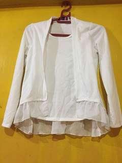 White raffle blouse