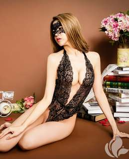 Lingerie sexy black mask
