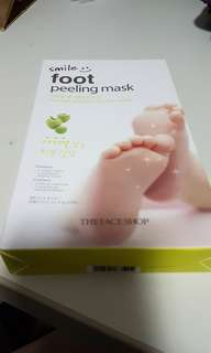 The face shop foot peeling mask